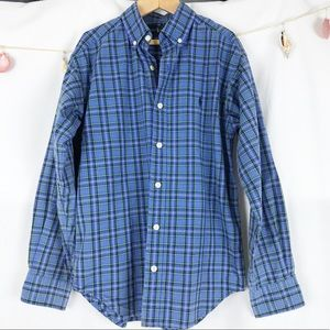 Ralph Lauren plaid button down Small